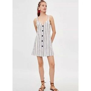 Zara stripe button down dress